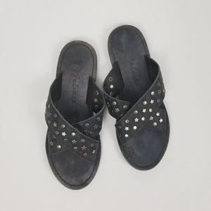 Matisse Lefty Leather Star Studded Slide Sandals